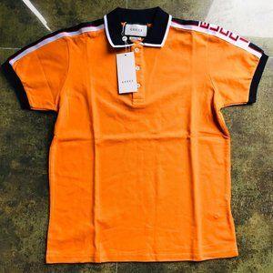 Gucci casual polo men's short sleeve orange medium